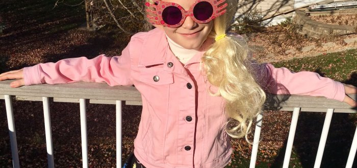 Lily as Luna Lovegood