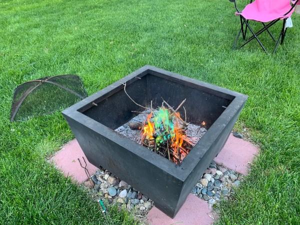 Green Fire Flames