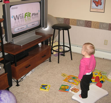 Lily on Wii Fit