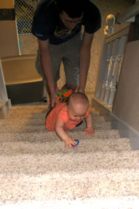 Climbing Up Stairs