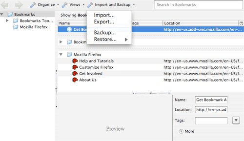 Firefox 3 Bookmarks Management