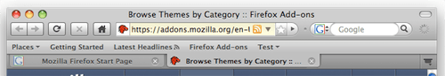 Firefox 3 Mac Theme