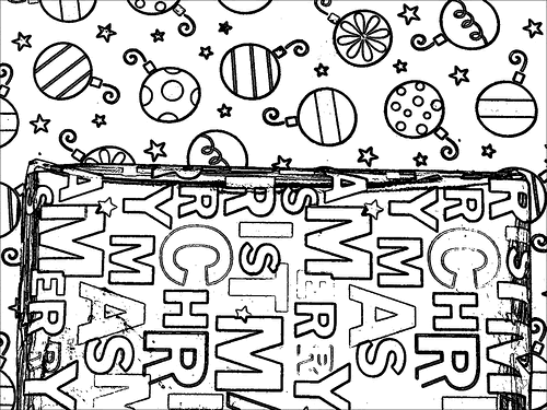 Color Your Own Christmas Presents
