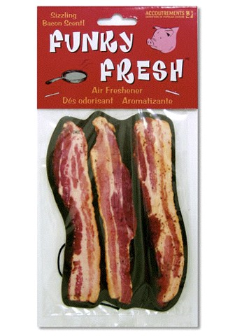 Want that new car smell on ur old cluncker? Try the #bacon air