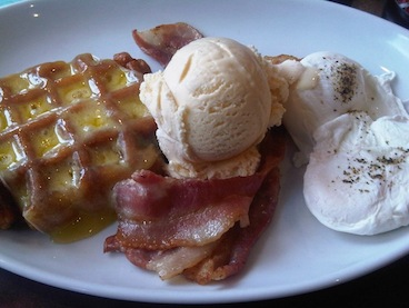 Would you like ice cream with your eggs & bacon