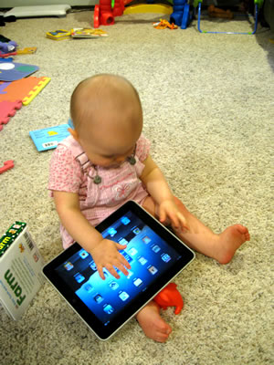 Lily on the iPad