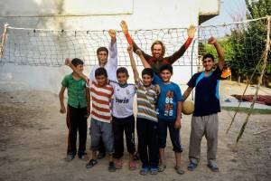 Interacting with kids in Iran