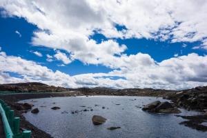 Beautiful lake on plateau