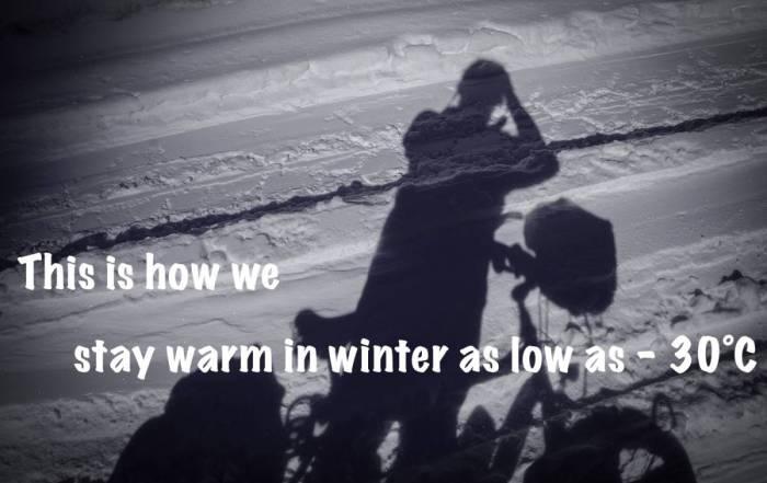 stay warm in winter as low as - 30°C