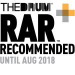 RAR The Drum Digital Awards Logo Finalist, PR and Marketing Agency