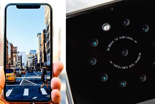 Smartphone with 9 cameras