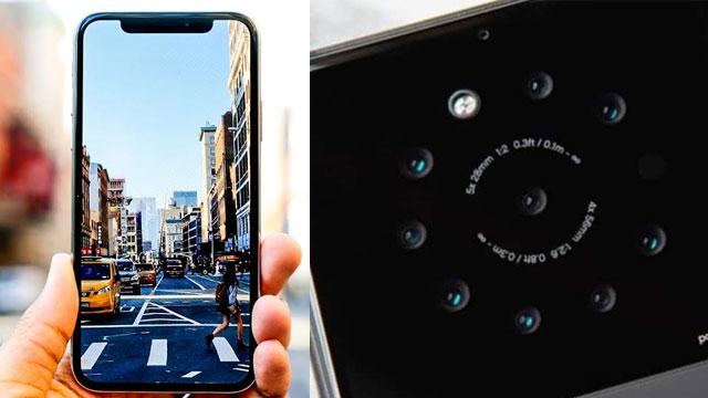 Smartphone with 9 cameras