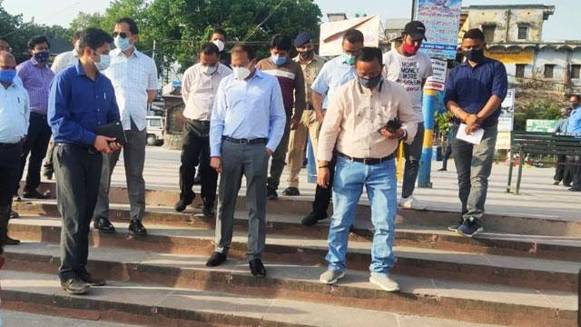 DM reviewed arrangements in the Rishikesh Kumbh region