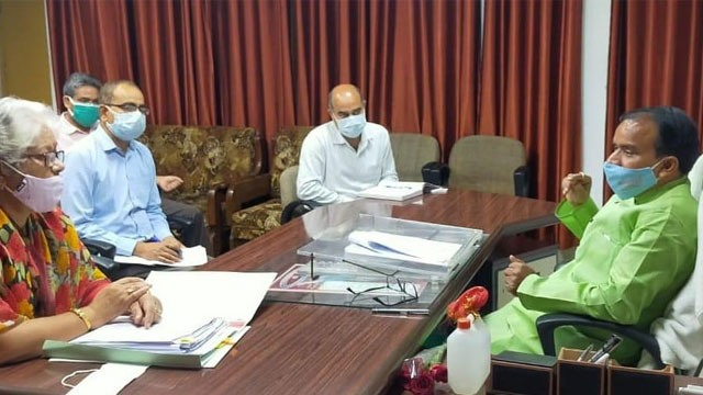 Review meeting of higher education department