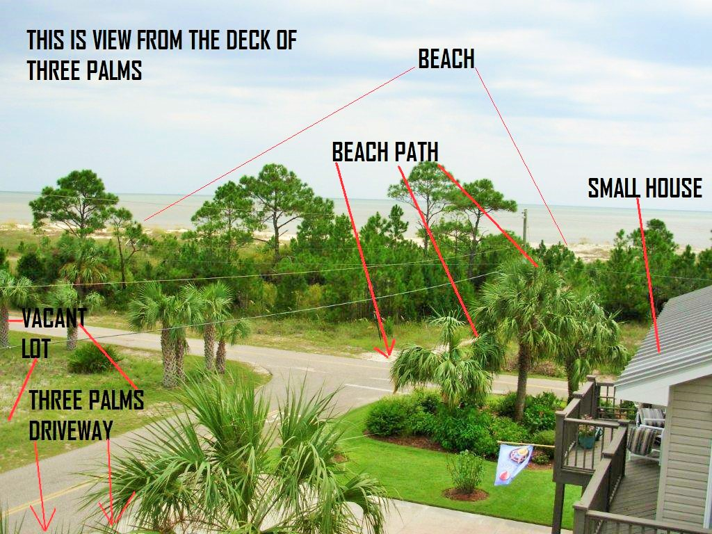 Three Palms Photo From Deck- Beach Path- Labels-5