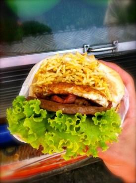 X-Tudo burger in Rio de Janeiro Carnival 2013