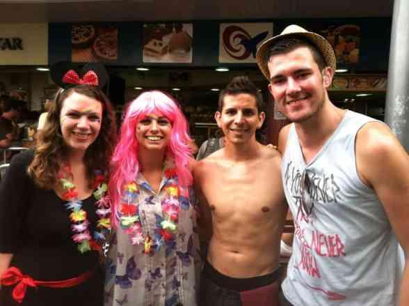In Rio de Janeiro with fantastic ladies we met at a hostel in Tokyo