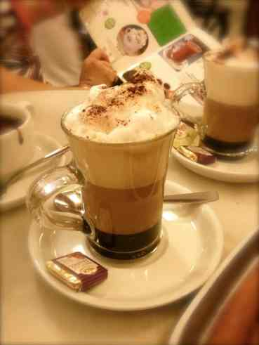 Coffees, churros and chocolate in Madrid