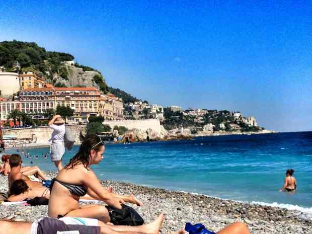 At the beach in Nice