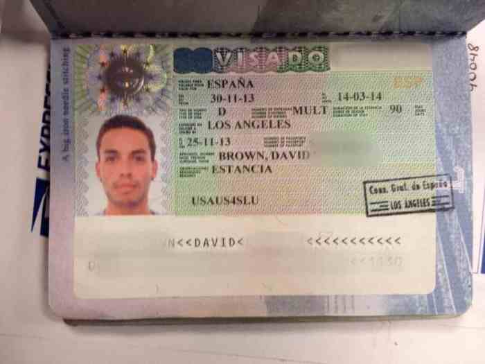 David's Long Stay Visa Spain