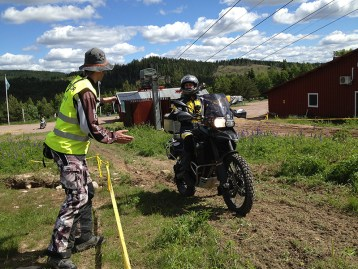 Anders taking part in an off road course at Touratech