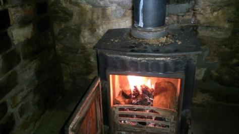 Inside Bothy Stove