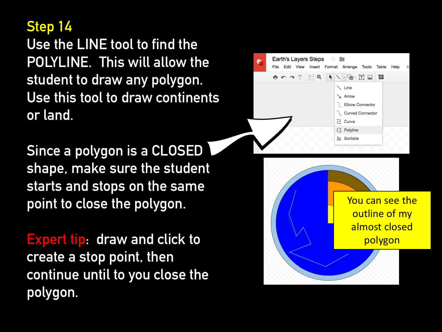 Use Google Draw in the classroom Step 14