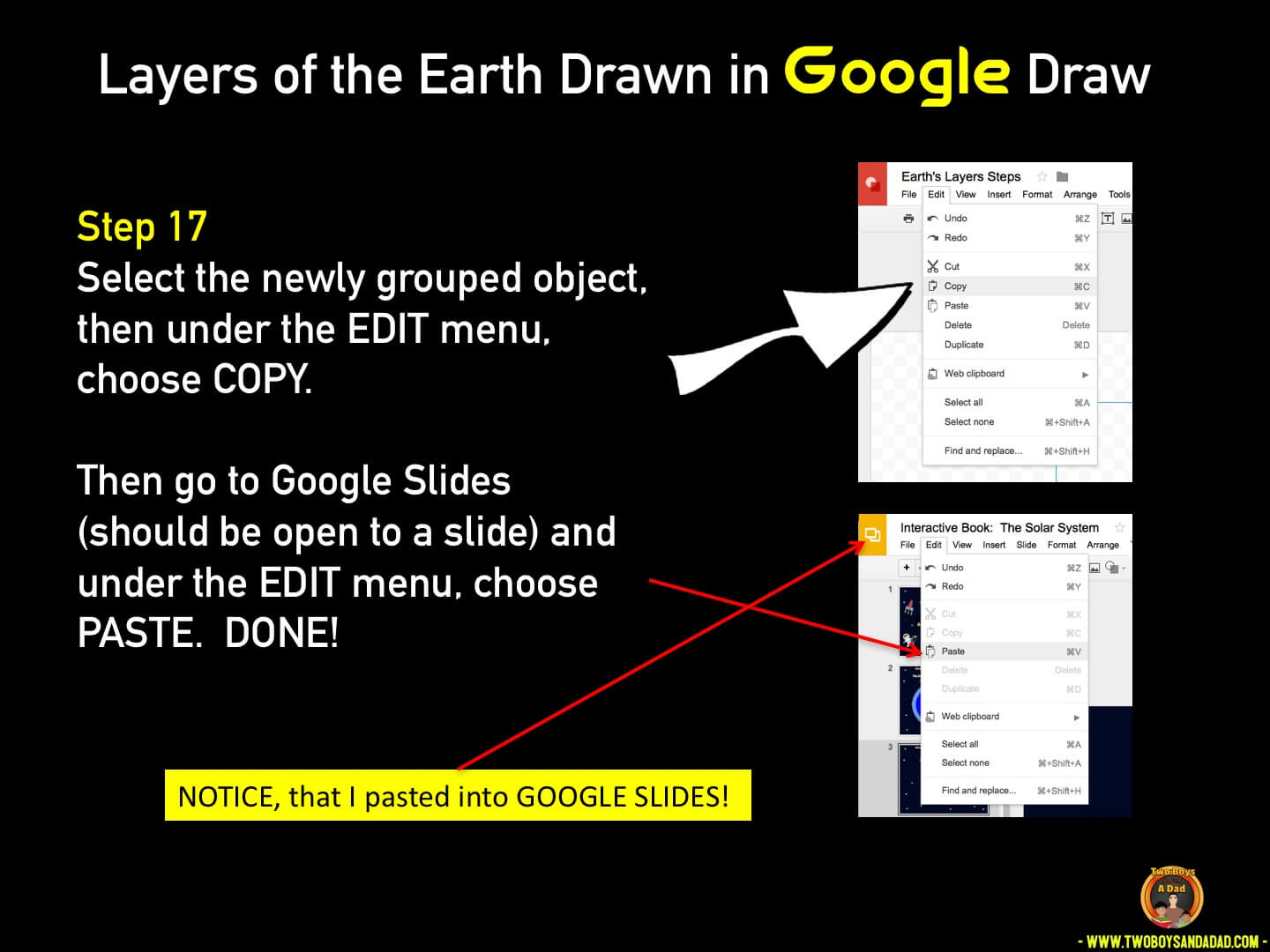 Use Google Draw in the classroom Step 17