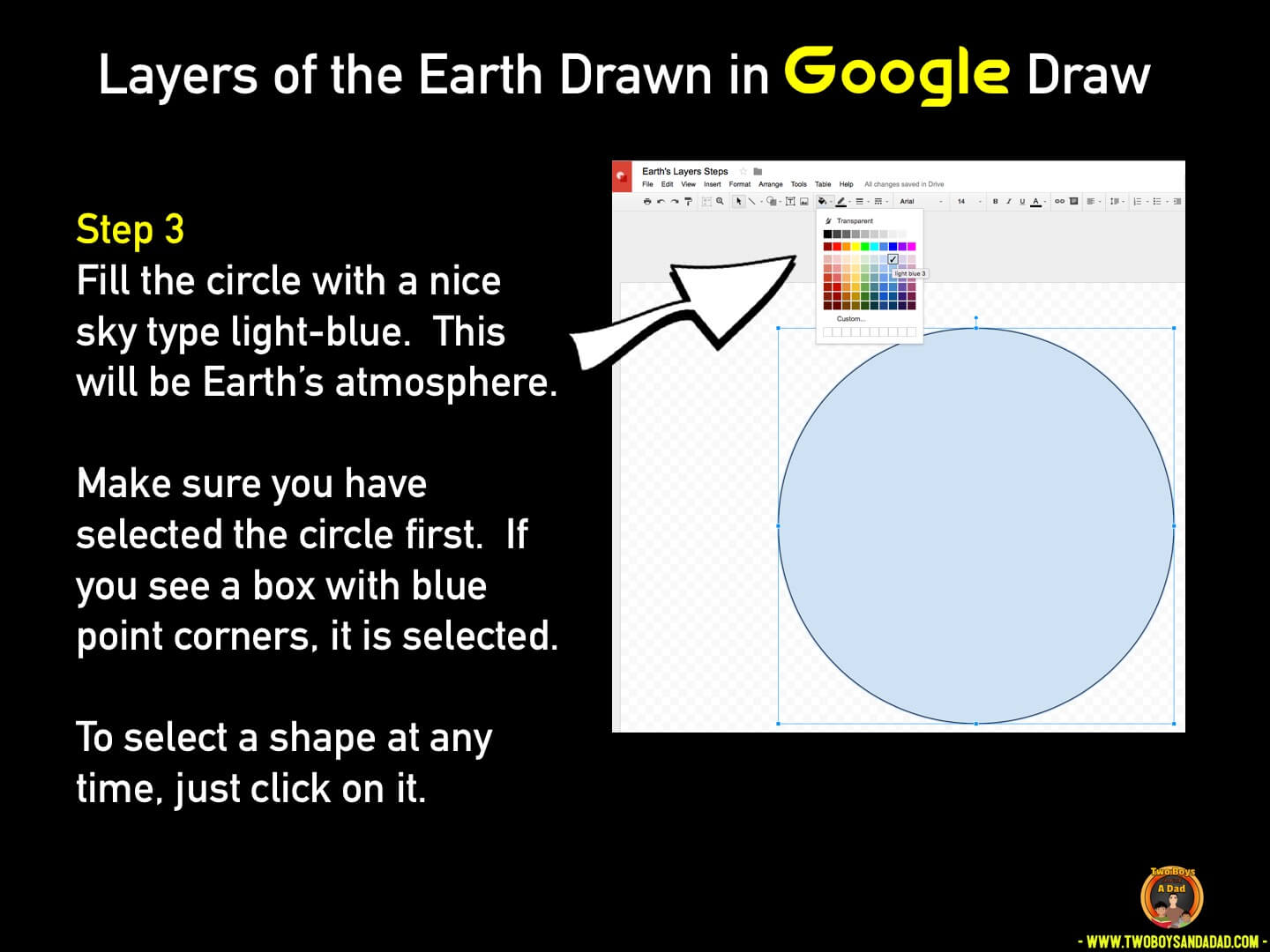 Use Google Draw in the classroom Step 3