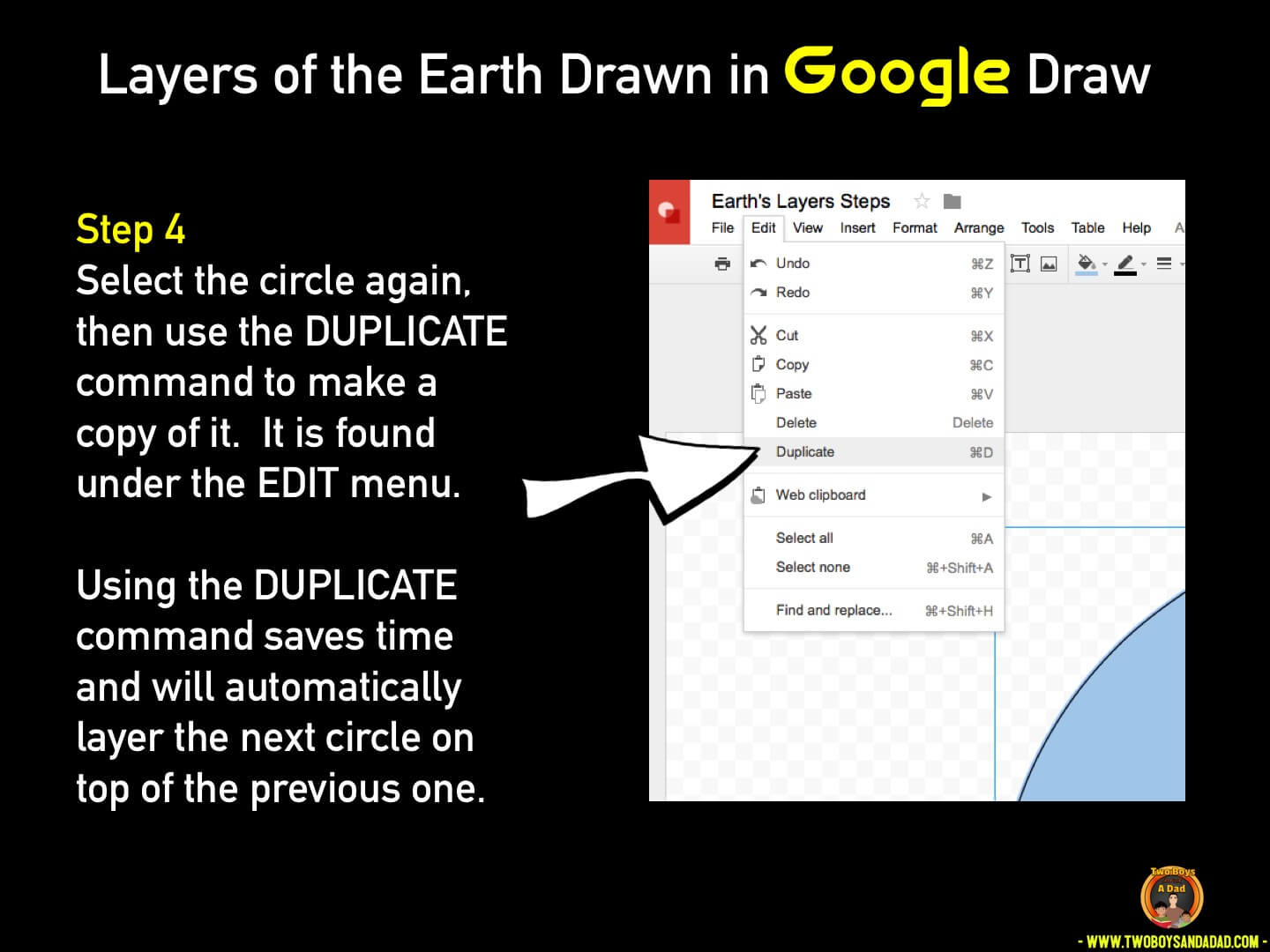 Use Google Draw in the classroom Step 4