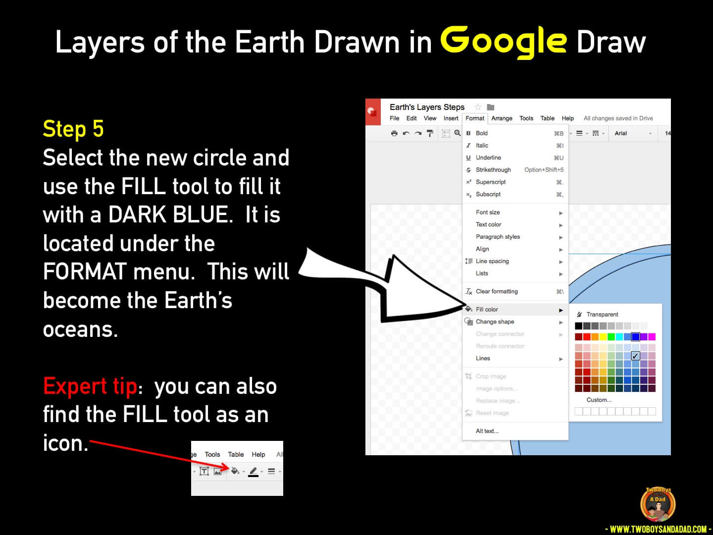 Use Google Draw in the classroom Step 5