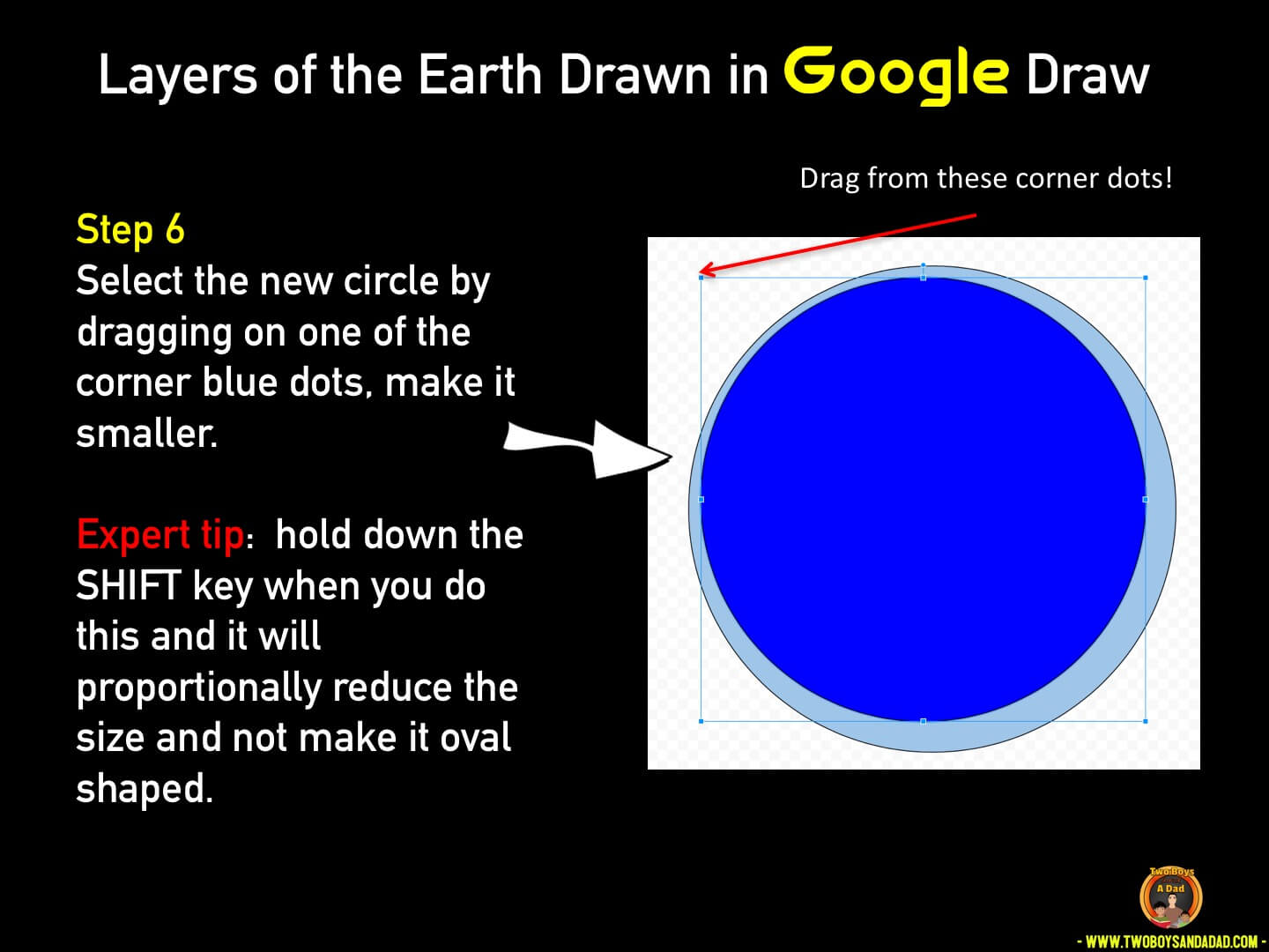 Use Google Draw in the classroom Step 6