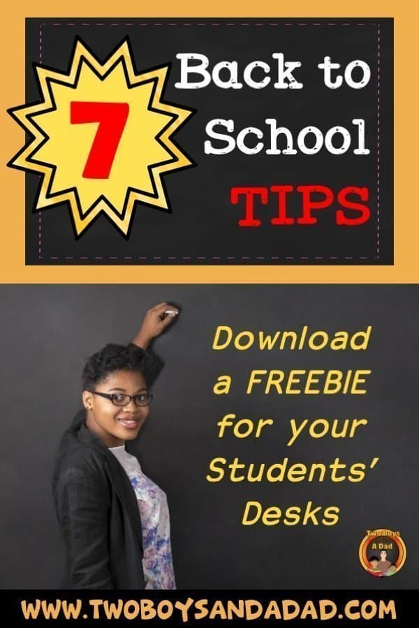 Check out 7 back to school tips for teachers for the first weeks of school. Click to download a back to school Tech Tip freebie! #twoboysandadad #backtoschool #elementary #school #teacher
