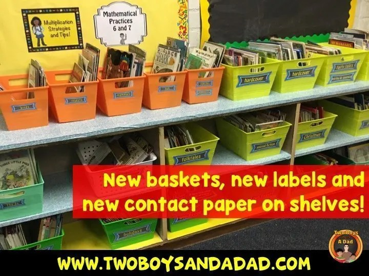 new baskets and labels for my classroom library