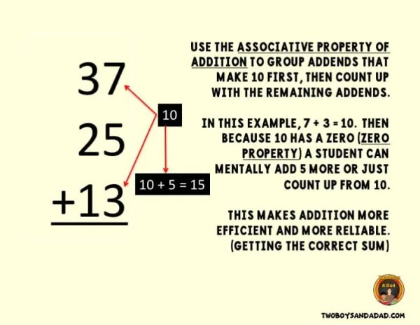 Using the Associative Property of Addition