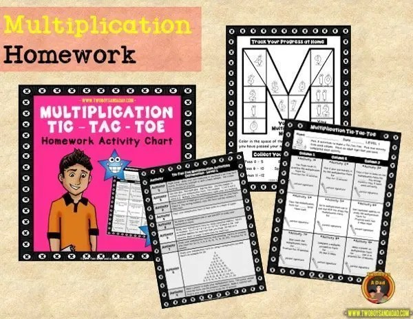 learning multiplication homework