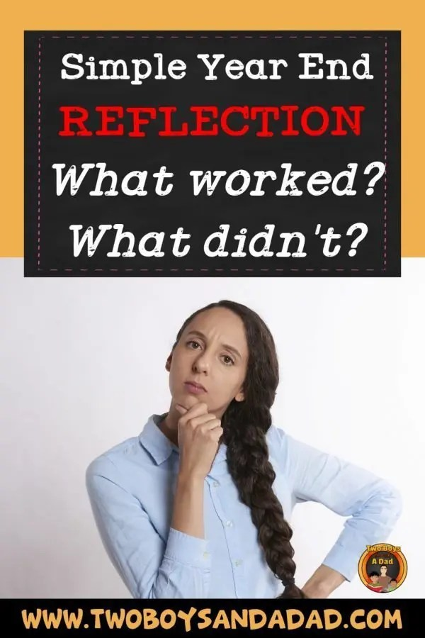 My year end reflection starts with some simple questions. What worked in my classroom? What didn't work in my classroom. #twoboysandadad #yearendreflection #teacher