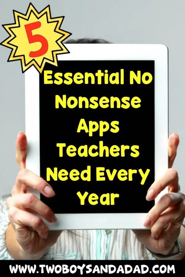 What are the 5 most essential apps every teacher needs to use every year? How about Google Classroom! ClassDojo! Click to read more and watch video tutorials. #twoboysandadad #apps #teacher #classroom #technology