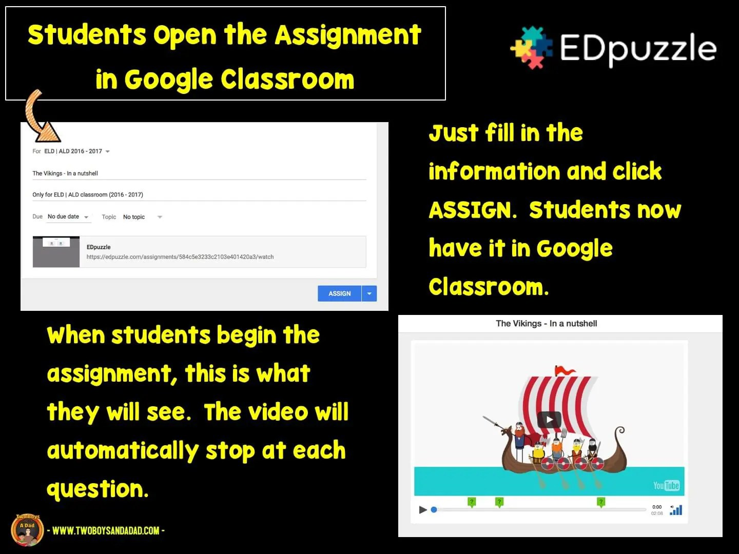 Students must answer the question to move on in the video