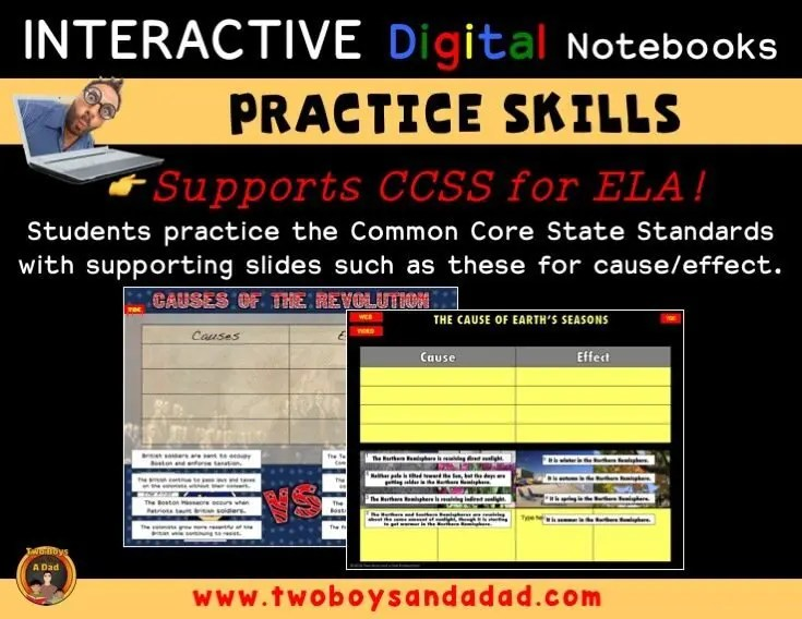 Practice Skills with digital notebooks
