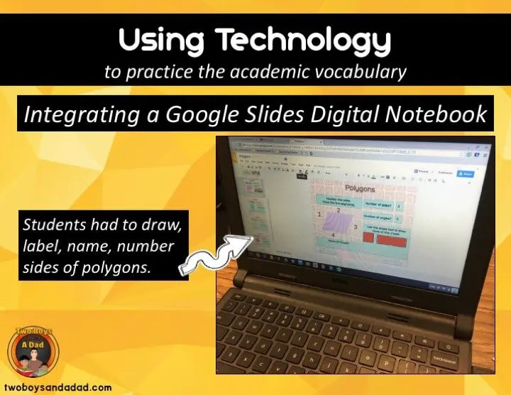 Using Technology to Develop Geometry Vocabulary