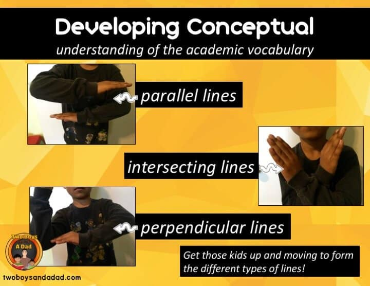 Developing Conceptual Understanding of Geometry Vocabulary with Kinesthetic Moves