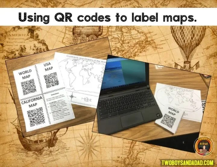 Using QR Codes to teach geography