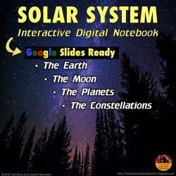Solar System Interactive Digital Notebook