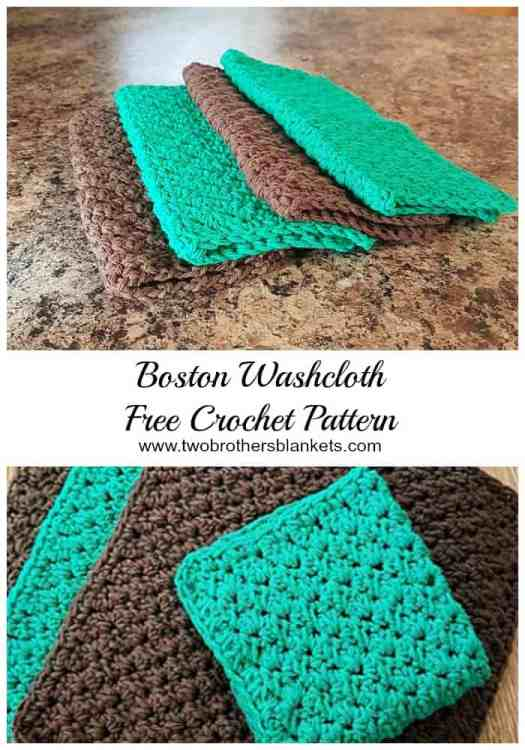 Boston Washcloth Free Crochet Pattern