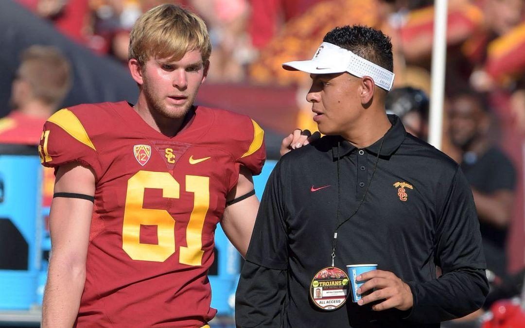 USC Football's new long snapper? yep, he's blind