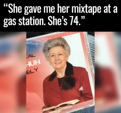 74-Year-Old Grandma Handing Out Her Mixtape At Gas Station Becomes Rap Sensation