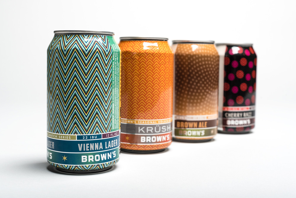 Brown's Brewing Co. and Local Branding Firm Praised by the Design Community on New Logo, Cans