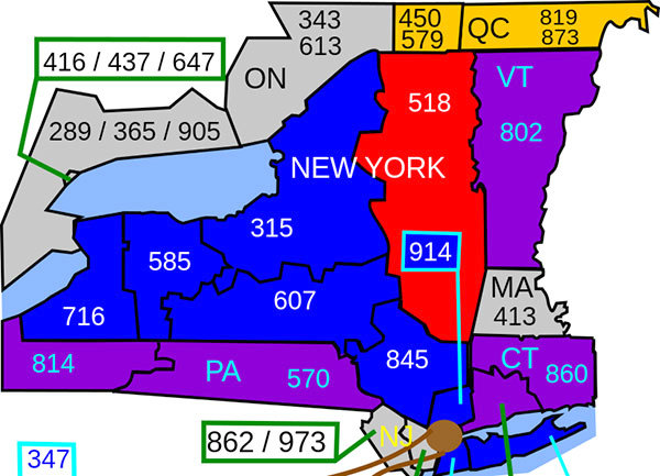 2BD - 518 Day_area code map