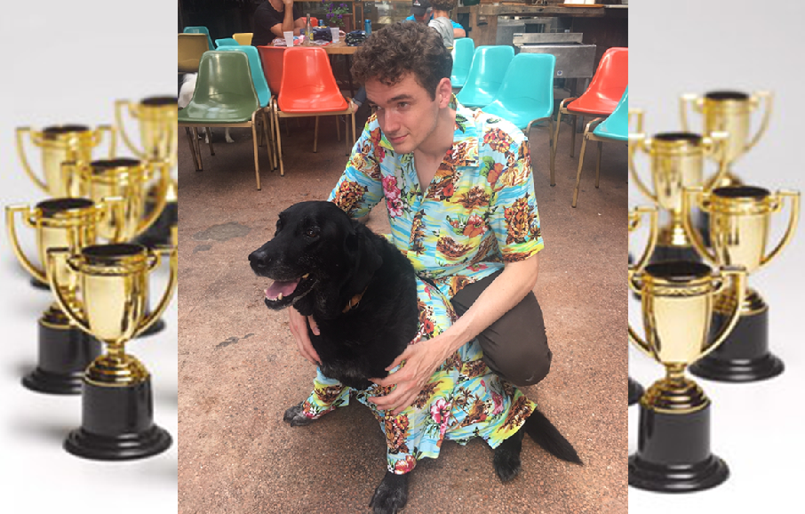 My Dog Duke is Officially the Back-To-Back Winner of Troy's Yappy Hour Dog Show